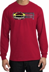 Ford Mustang Boss Long Sleeve Shirt - 302 Yellow Mustang Red T-Shirt