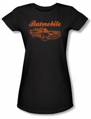 Batman Juniors T-Shirt - Batmobile Black Tee