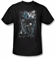Batman Kids T-Shirt - In The Rain Youth Black Tee