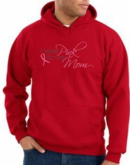 Breast Cancer Hoodie I Wear Pink For My Mom Hoody Red