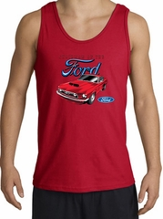 Ford Mustang Tank Top - Chairman Of The Ford Adult Red Tanktop