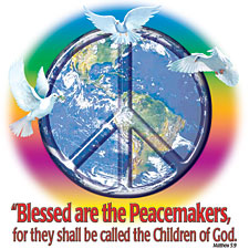 Christian T-shirt - Blessed are the Peacemakers Adult Tee