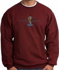 Ford Mustang Cobra Sweatshirt - Ford Motor Company Grill Adult Maroon