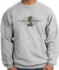 Ford Mustang Cobra Sweatshirt –Ford Motor Grill Adult Athletic Heather
