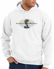 Ford Mustang Cobra Hoodie - Motor Company Grill Adult White Hoody
