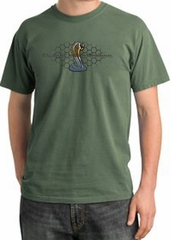 Ford Mustang Cobra Pigment Dyed T-Shirt - Ford Motor Grill Olive Tee