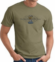Ford Mustang Cobra T-shirt - Ford Motor Company Grill Army Green Tee