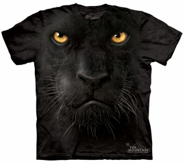 Black Panther Kids Shirt Tie Dye Panther Face T-shirt Tee Youth