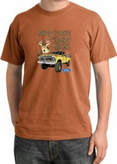Ford Truck T-Shirt Driving and Tagging Bucks Pigment Dyed Burnt Orange