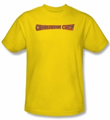 Charleston Chew T-Shirts - Charleston Chew Logo Adult Yellow Tee