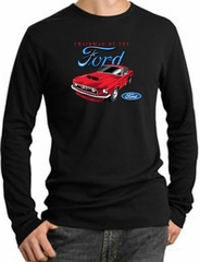 Ford Mustang Long Sleeve Thermal - Chairman Of The Ford Adult Black