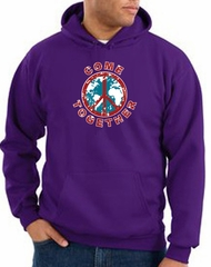 Peace Sign Hoodie Come Together Hoody Purple