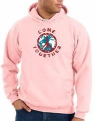 Peace Sign Hoodie Come Together Hoody Pink