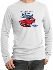 Ford Mustang Long Sleeve Thermal - Chairman Of The Ford Adult White