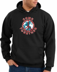 Peace Sign Hoodie Come Together Hoody Black