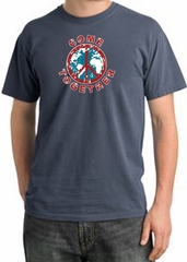 Peace Sign Shirt Come Together Pigment Dyed Tee Scotland Blue
