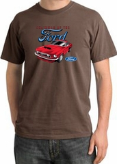 Ford Mustang Pigment Dyed T-Shirt - Chairman Of The Ford Chestnut Tee