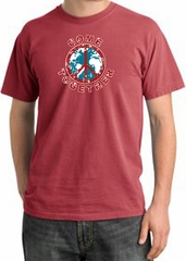 Peace Sign Shirt Come Together Pigment Dyed Tee Dashing Red