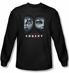 Bride Of Chucky T-shirt Movie Happy Couple Black Long Sleeve Shirt