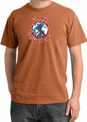 Peace Sign Shirt Come Together Pigment Dyed Tee Burnt Orange