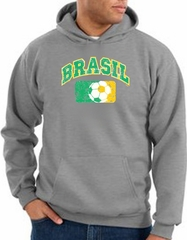 Brazil Soccer Hoodie Brazil Futbol Hoody Athletic Heather