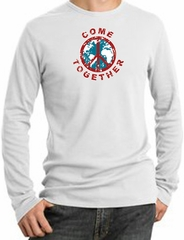 Peace Sign Shirt Come Together Thermal Shirt White