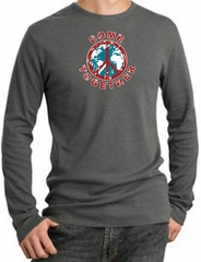 Peace Sign Shirt Come Together Thermal Shirt Deep Heather