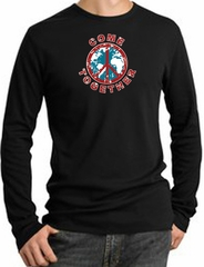 Peace Sign Shirt Come Together Thermal Shirt Black