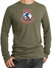 Peace Sign Shirt Come Together Thermal Shirt Army Green