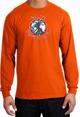 Peace Sign Shirt Come Together Long Sleeve Tee Orange