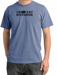 INNOCENT BYSTANDER BLACK Funny Adult Pigment Dyed T-Shirt - Night Blue