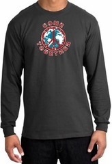 Peace Sign Shirt Come Together Long Sleeve Tee Charcoal