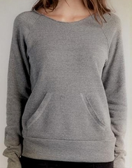 Alternative Apparel Ladies Sweatshirt Flashdance Grey Sweat Shirt