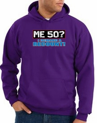50th Birthday Hooded Hoodie Funny Me 50 Years Purple Hoody Sweatshirt