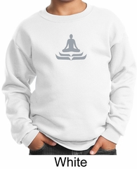 Kids Yoga Sweatshirt Lotus Pose Meditation Youth Sweat Shirt