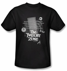 The Twilight Zone T-Shirt - Monologue Adult Black