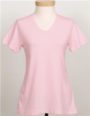 Premium Quality Ladies Shirt Cotton Short Sleeve V Neck Tee Shirt