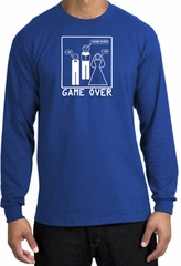 Game Over Marriage Ceremony Long Sleeve Royal Shirt - White Print