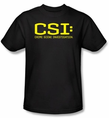 CSI T-shirt - Logo Adult Black Tee
