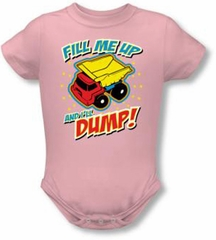 Funny Baby Clothing - Dump Infant Romper Snapsuit - Pink