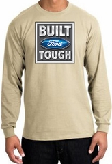 Built Ford Tough Long Sleeve Shirt - Ford Logo Adult Sand T-Shirt