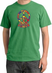 Peace Sign Shirt Funky 70s Peace Pigment Dyed Tee Piper Green