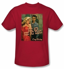 Cry Baby T-shirt Movie Kiss Me Adult Red Tee Shirt