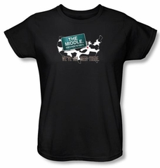 The Middle Ladies T-shirt TV Show We've All Been There Black Shirt