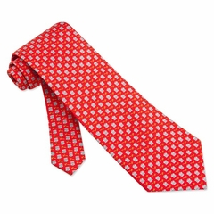 Court Case Tie Red Silk Necktie - Mens Occupational Neck Tie