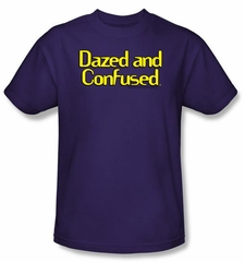 Dazed And Confused T-Shirt Dazed Logo Adult Purple Tee Shirt