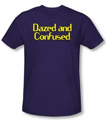 Dazed And Confused T-shirt Dazed Logo Adult Purple Slim Fit Shirt