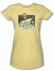 Dazed And Confused Juniors T-shirt Alright Alright Banana Tee Shirt