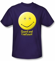 Dazed & Confused T-shirt Movie Dazed Smile Adult Purple Tee Shirt