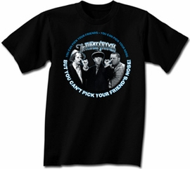 Three Stooges T-shirt Funny Pick Your Friends Adult Black Tee Shirt